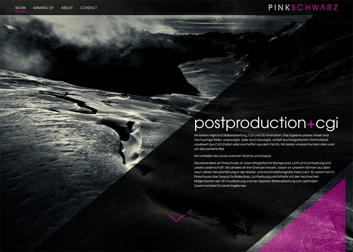pinkschwarz - postproduction + cgi