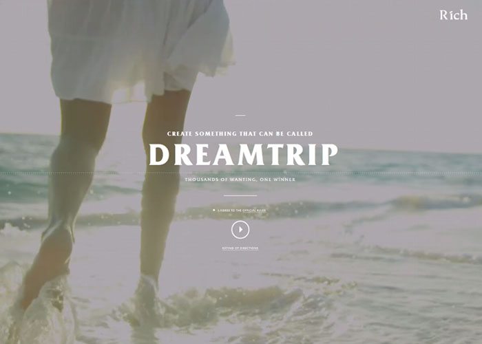 Dreamtrip. Thousands of wanting, one winner