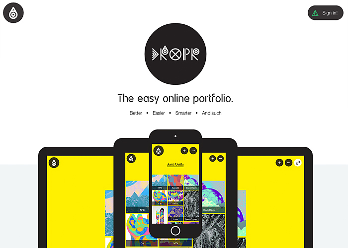 Dropr: The easy online portfolio.
