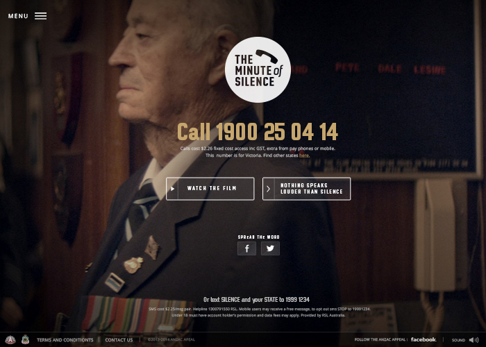 ANZAC Appeal - The Minute Of Silence