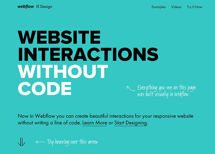 Webflow Interactions - Awwwards SOTD