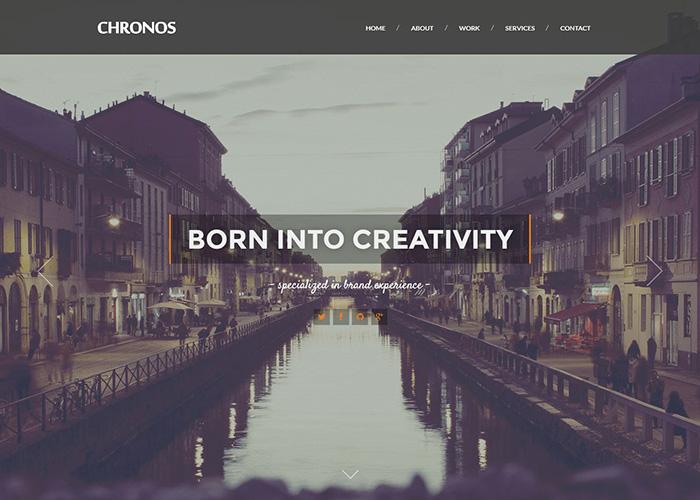 CHRONOS Parallax HTML Template