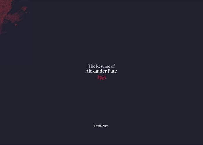 Resume of Alexander Pate