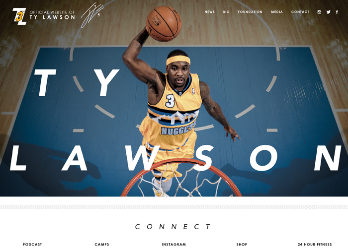 NBA Star Ty Lawson Personal Website