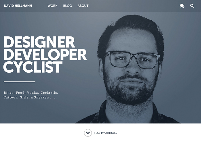 David Hellmann — Designer. Developer. Cyclist.