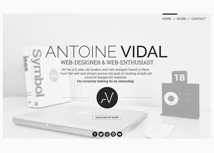Antoine Vidal - Portfolio