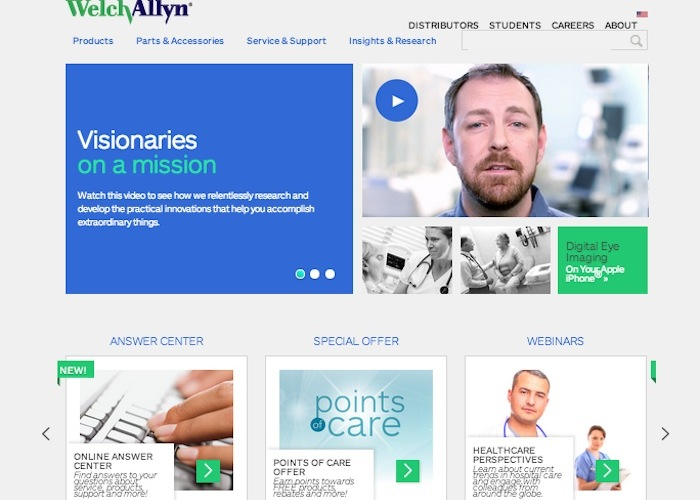 Welch Allyn Website