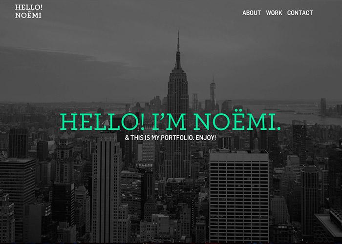 Hello! I'm Noëmi.