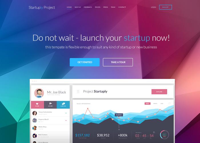 Startuply - Responsive Startup Website Framework/Kit