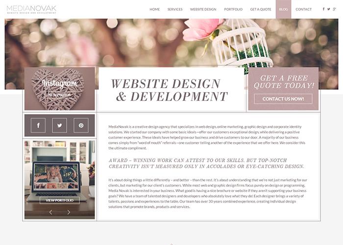 MediaNovak - Photography Websites & Logo Design