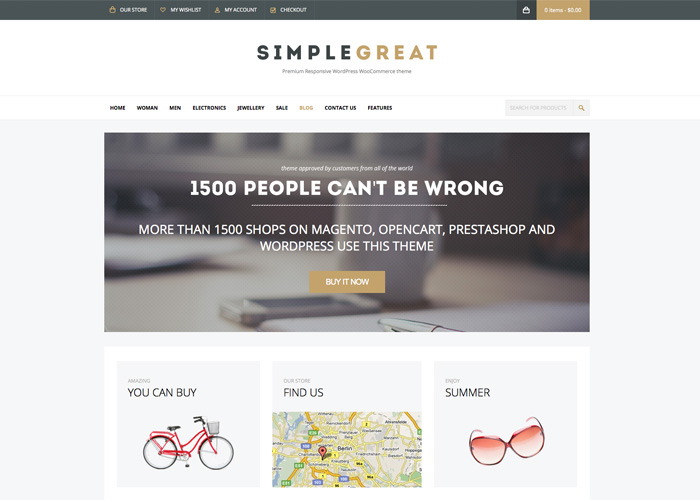 SimpleGreat - WordPress WooCommerce Theme