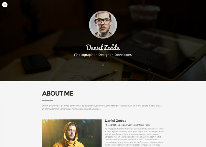 ME- Multipurpose Resume Portfolio Wordpress Theme