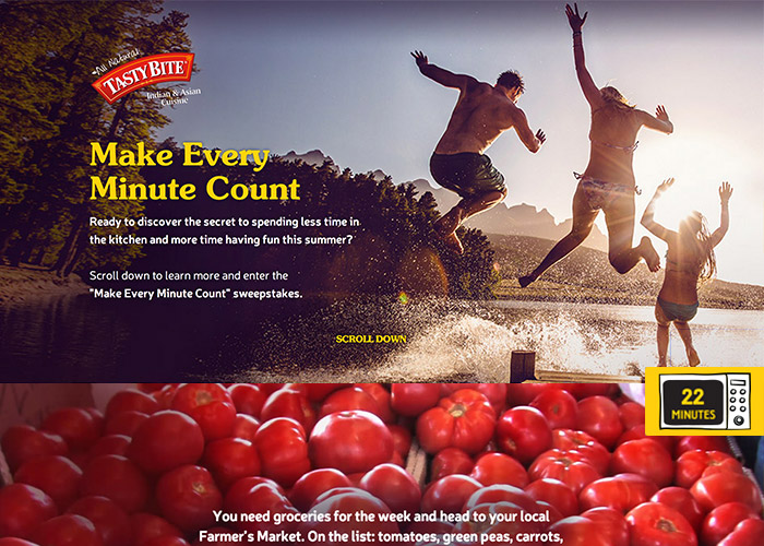 """Tasty Bite """"Make Every Minute Count"""""""