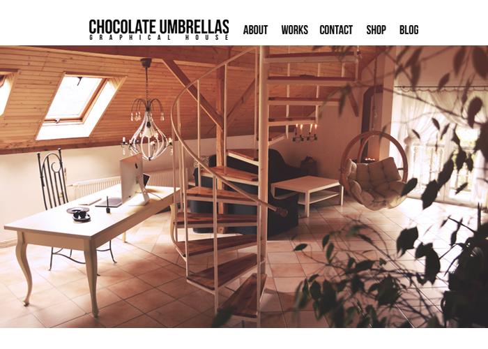 Chocolate Umbrellas Graphical House