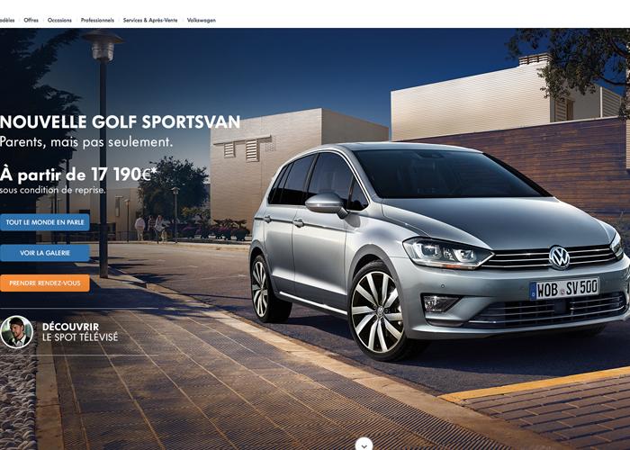 Volkswagen Golf Sportsvan Awwwards Nominee
