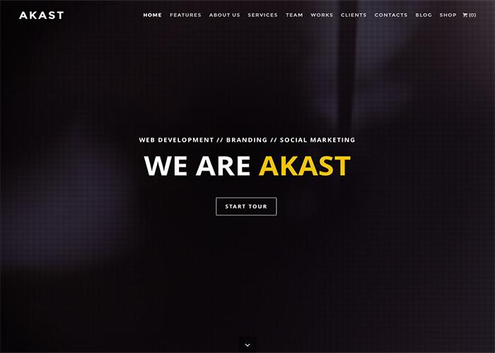 Akast - One & Multi-Page Premium Theme