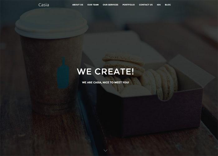 Casia Minimal WordPress Theme