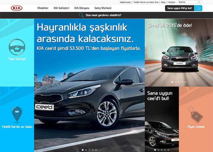 Kia Motors Turkey Official Website Awwwards Nominee