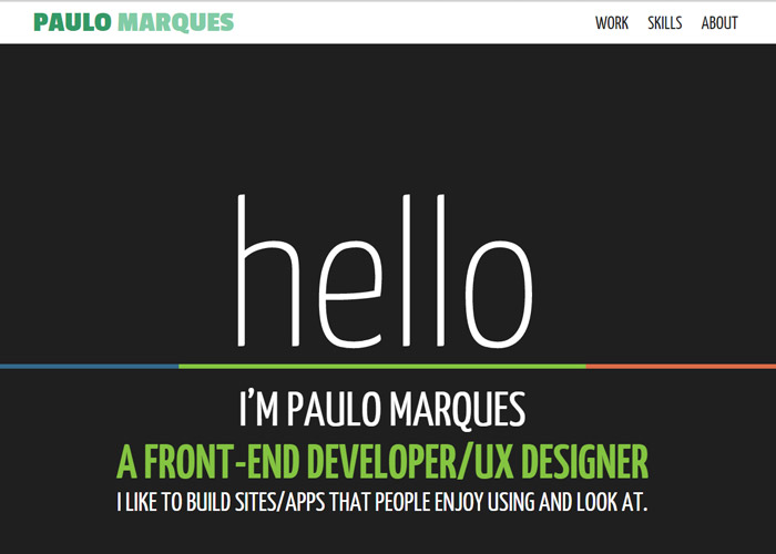 Paulo Marques - Front-end Developer | UX Designer