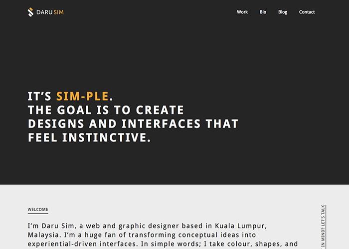 Daru Sim - Website Designer | Malaysia