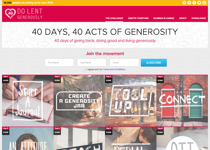 Stewardship 40 Acts Campaign