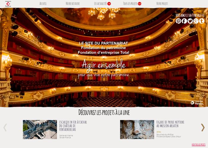 Partnership between Fondation Total and Fondation du patrimoine