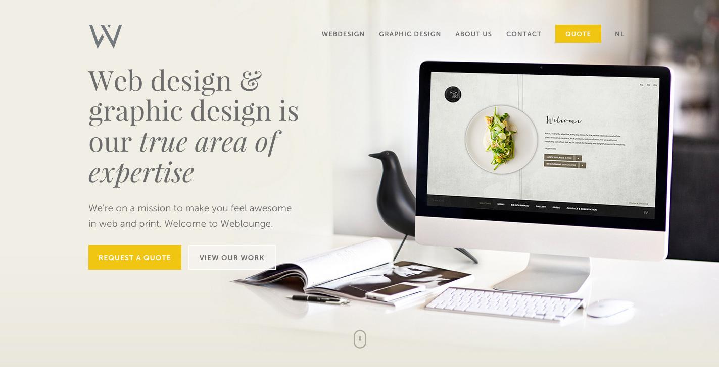 Webdesign agency weblounge awwwards sotd for Graphic design agency
