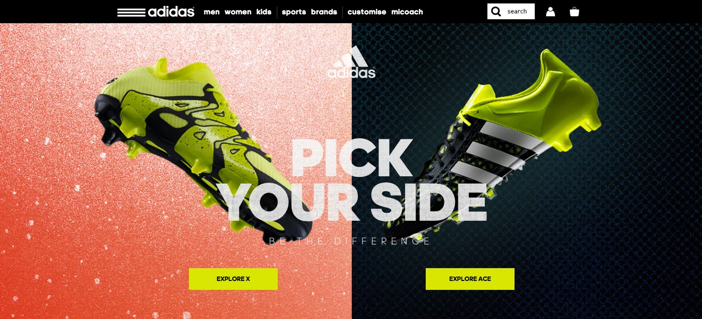 02e510d26712 adidas  Be the Difference - Awwwards SOTD