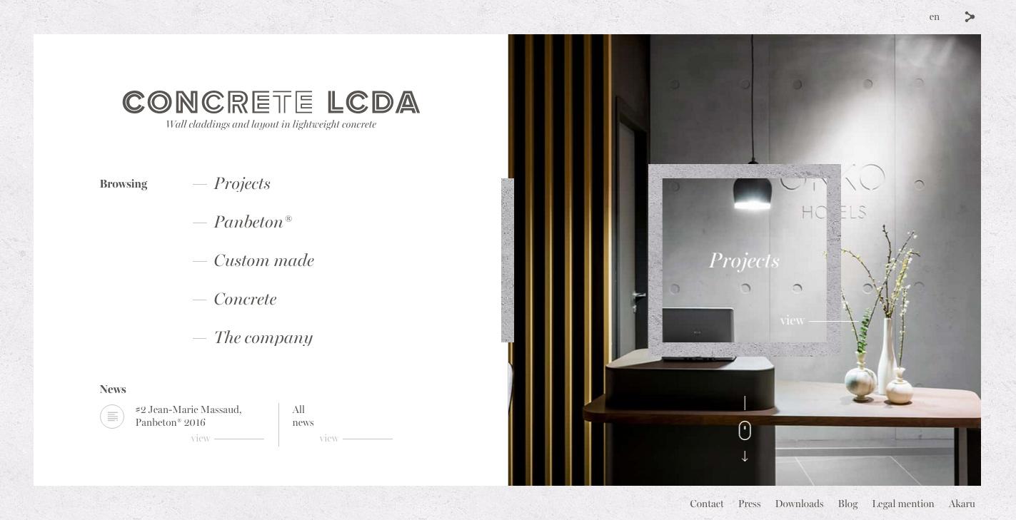Concrete LCDA - Awwwards SOTD