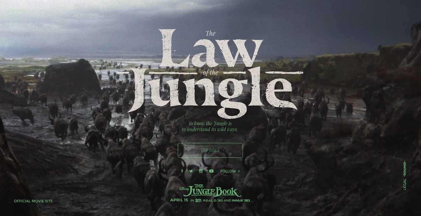 The Law of the Jungle - Awwwards SOTD