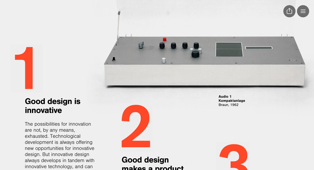 dieter rams 10 principles for good design awwwards sotd. Black Bedroom Furniture Sets. Home Design Ideas