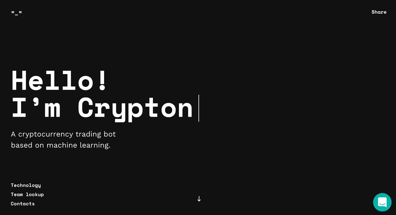 crypton.trading - Awwwards SOTD