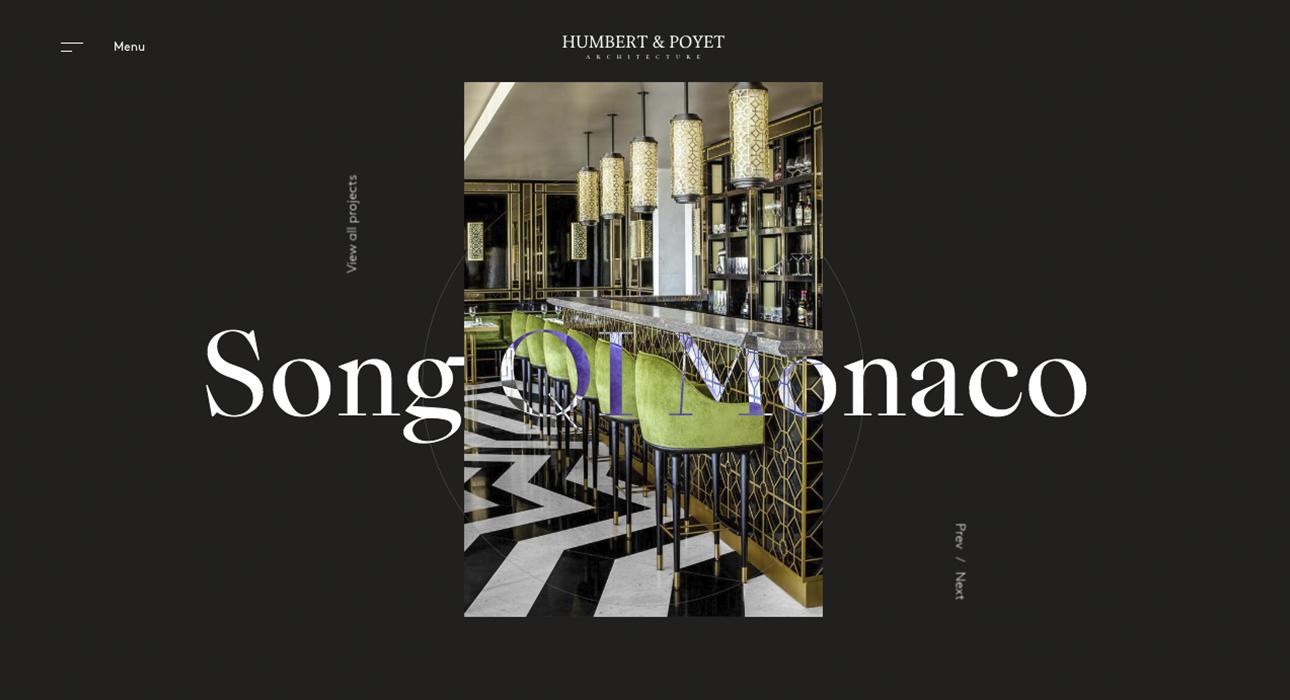 humbert poyet awwwards sotd. Black Bedroom Furniture Sets. Home Design Ideas