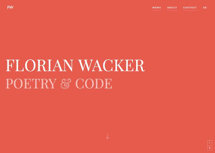Florian Wacker. Poetry & Code.