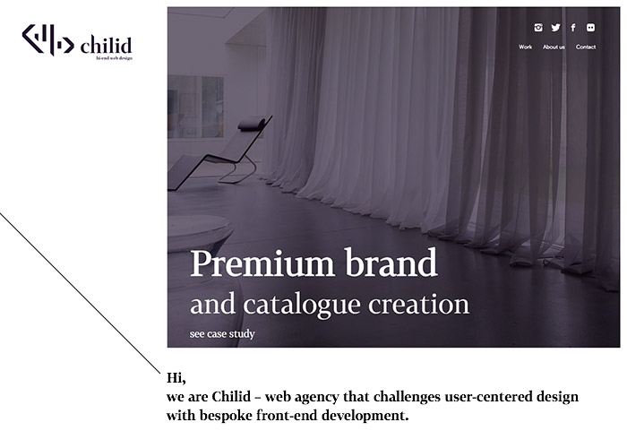 Chilid Hi-End Web Design