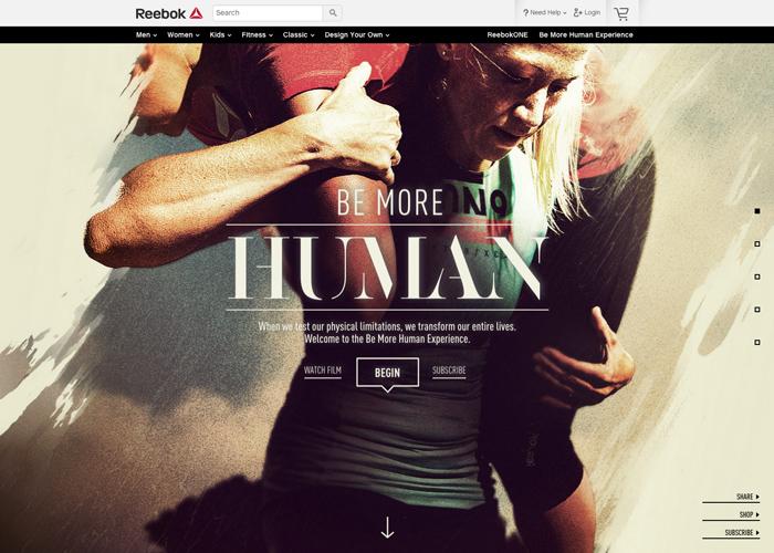 4eaf87444b1e Reebok  Be More Human Experience - Awwwards SOTD