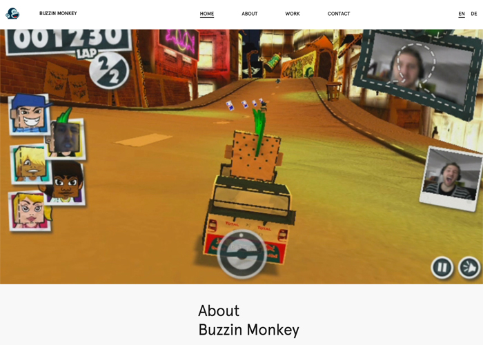 BUZZIN MONKEY Website