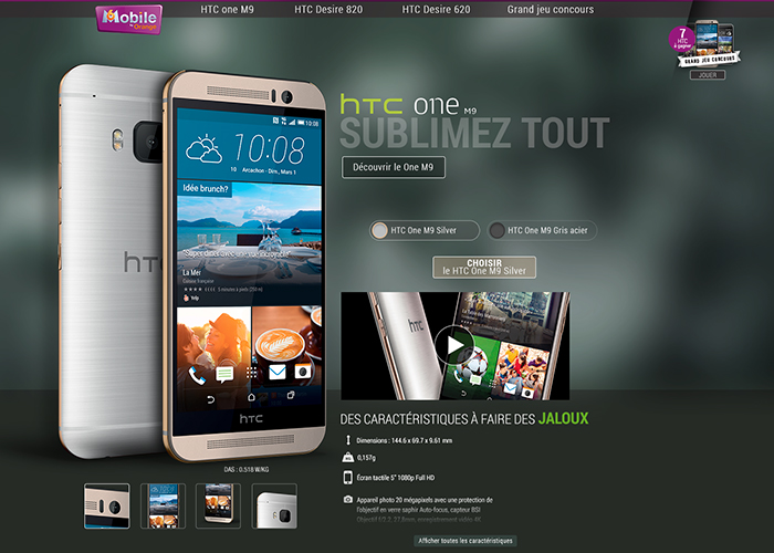 HTC By M6 mobile