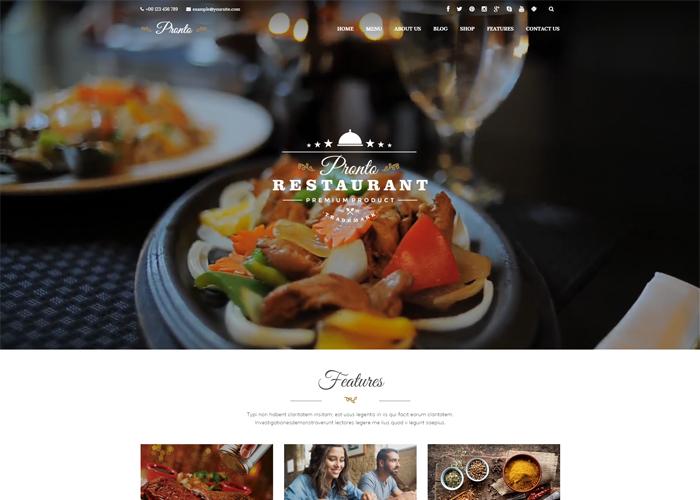 Pronto Restaurant & Event Theme