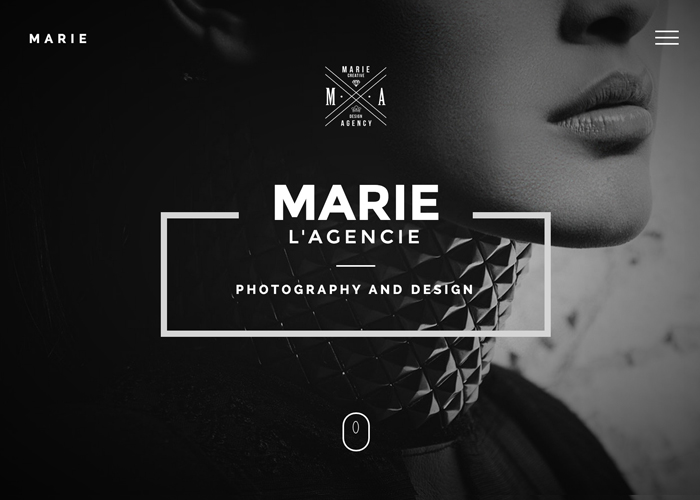 marie creative agency portfolio template awwwards nominee