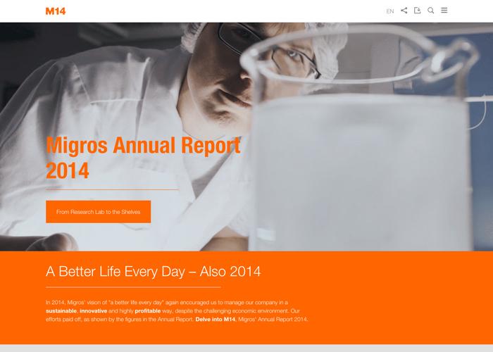 Migros Annual Report 2014