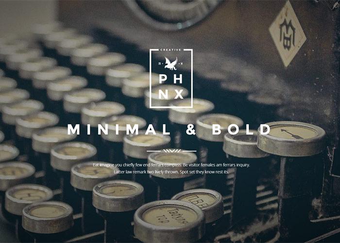 Phoenix Minimal Bold Theme.
