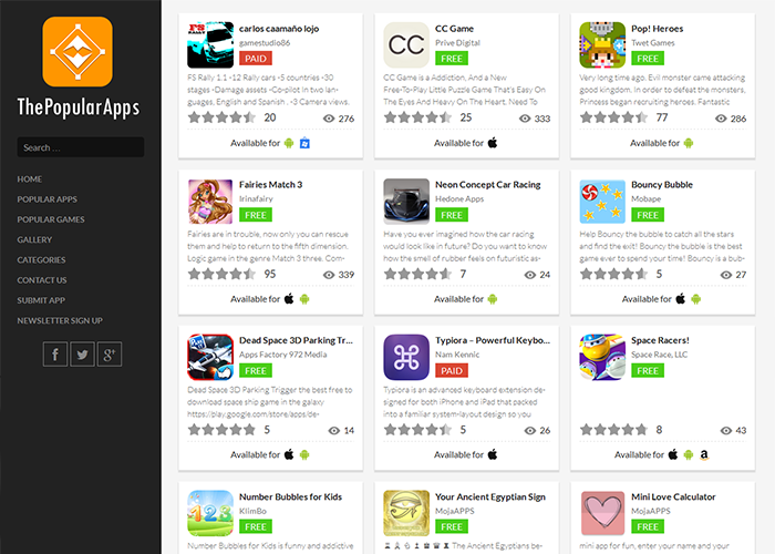The Popular Apps
