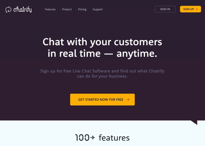 Chatrify Free Live Chat Software