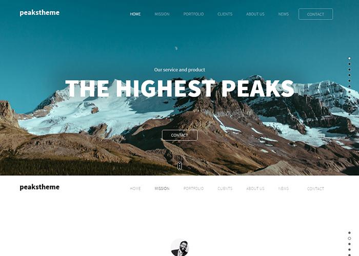 """""""Peaks"""" Digital Agency Template"""