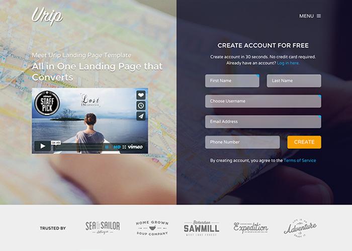 Urip Professional Landing Page - Awwwards Nominee