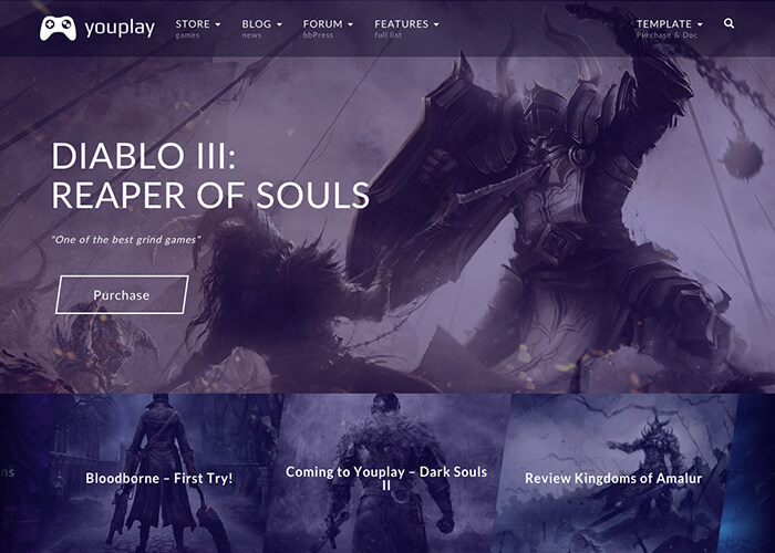 Youplay - Gaming Template - Awwwards Nominee
