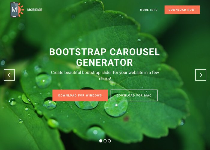 Bootstrap Carousel Generator