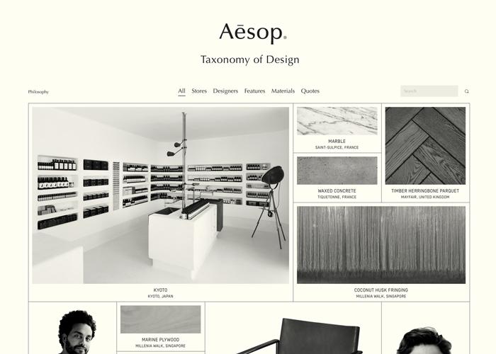 Aesop - Taxonomy of Design