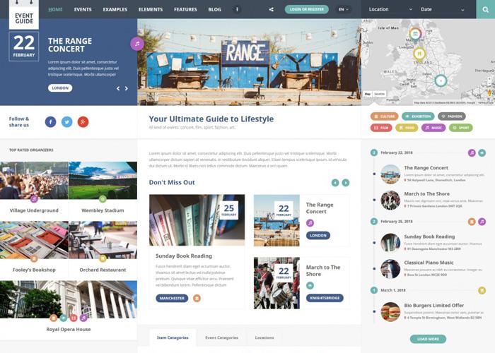 Event Guide WordPress Theme - Awwwards Nominee